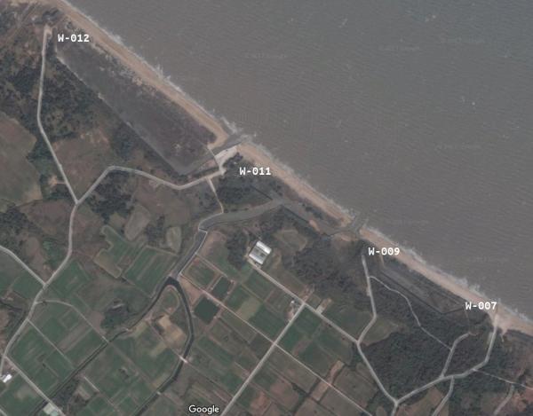 Gǔníngtóu - 古寧頭: W007, W009, W011, W012. Image by Google